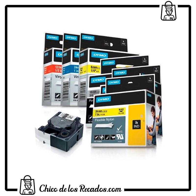 Cintas rotuladoras - Cinta Rotular Rhinopro Polyester 19Mmx5.5M Negro/Blanco Dymo - DYMO