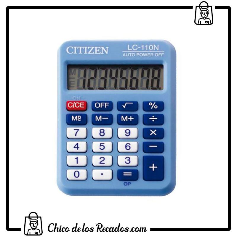 Calculadoras de bolsillo - Calculadora Bolsillo 8 Dig. Lc-110 Celeste Citizen - CITIZEN