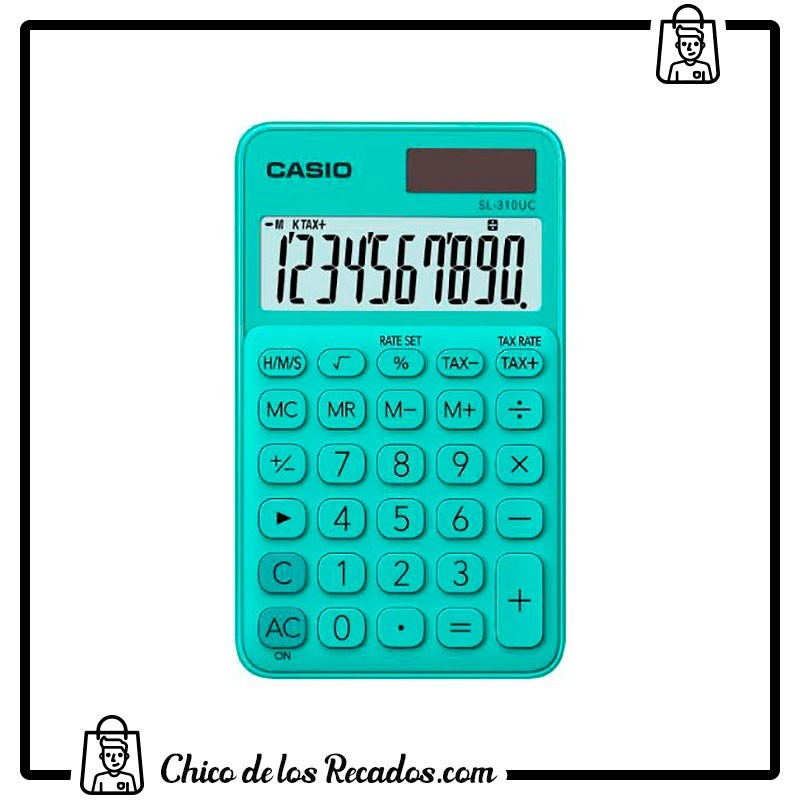 Calculadoras de bolsillo - Calculadora Bolsillo Sl-310Uc 8 Dig Verde Casio - CASIO