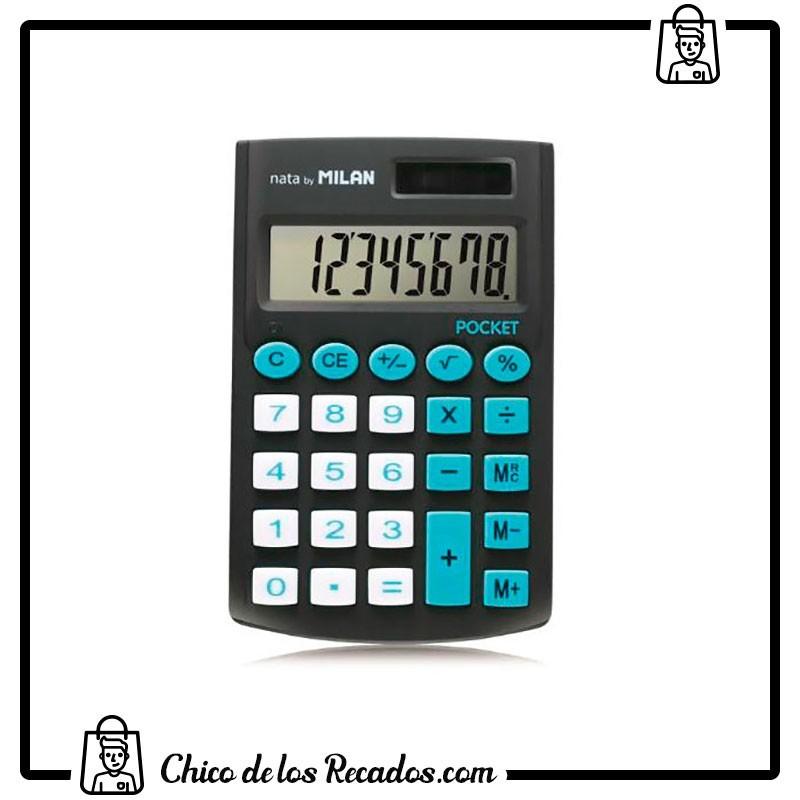 Calculadoras de bolsillo - Calculadora Pocket 8 Digitos Blister Negra Milan - MILAN