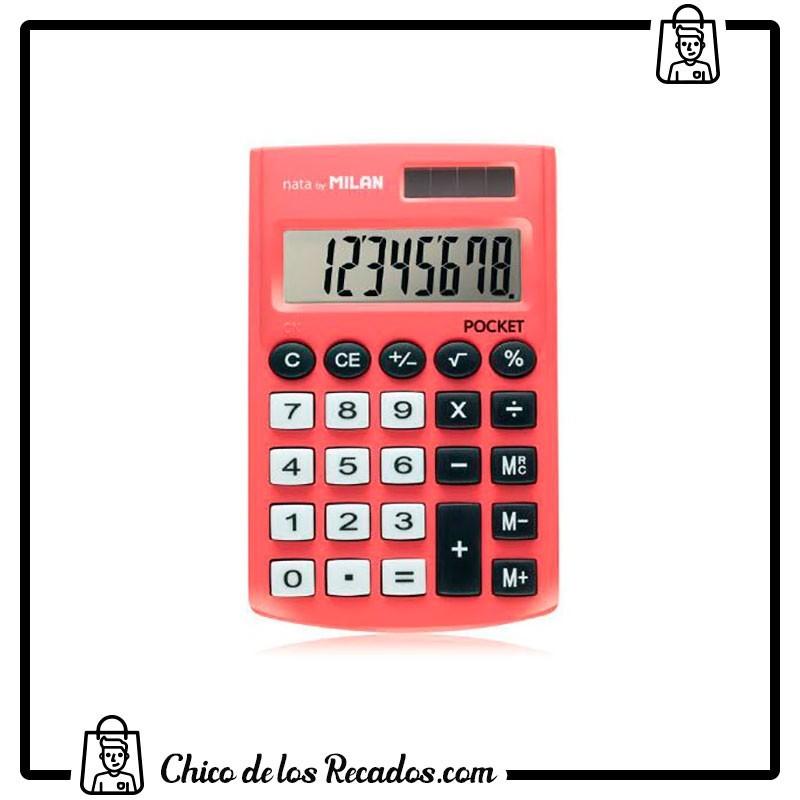 Calculadoras de bolsillo - Calculadora Pocket 8 Digitos Blister Rojo Milan - MILAN