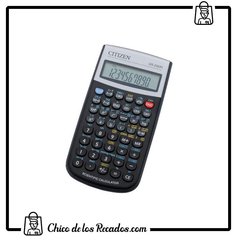 Calculadoras científicas y financieras - Calculadora Citizen Cientifica Sr-270N 10 + 2 Digitos - CITIZEN