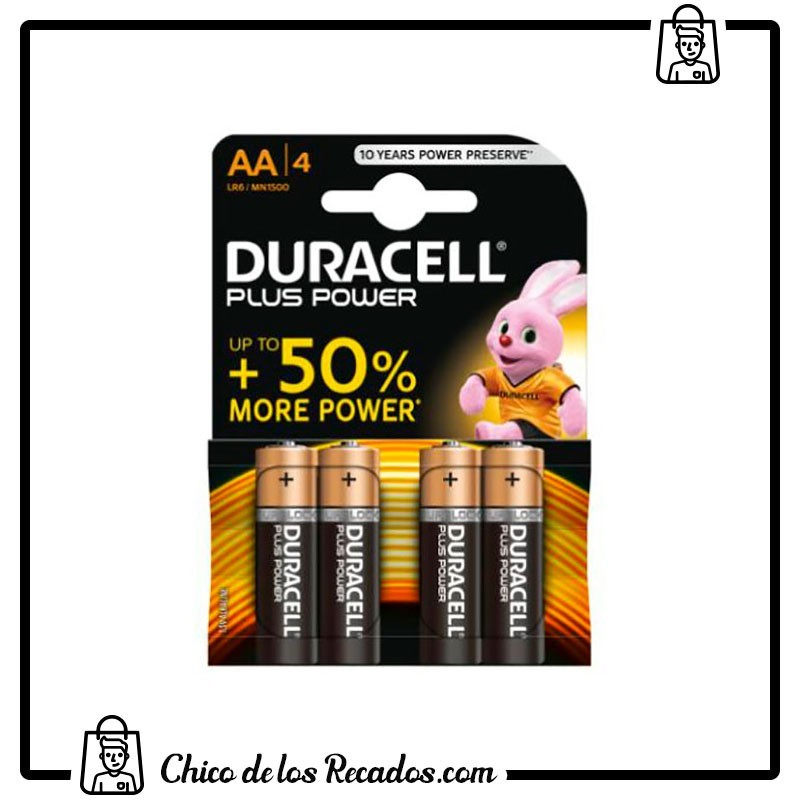 Pilas - Pilas Duracell Plus Power Aa (Lr06) Blister 4 - Duracell