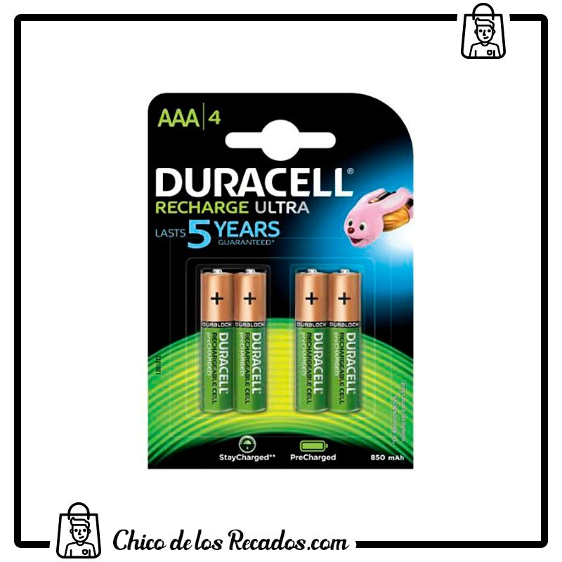 Pilas - Pilas Duracell Recargables Aaa (Lr03) 750 Mah Blister 4 Uds - Duracell