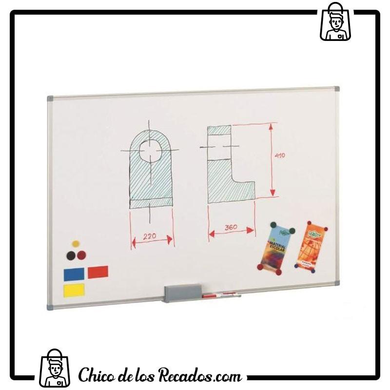Pizarras murales - Pizarra Blanca Lacada Magnetica 120X180Cm Faibo - FAIBO
