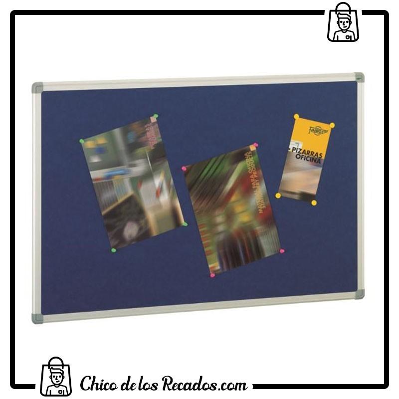 Tableros tapizados - Tableros Corcho Tapizados Marco Alum. 60X90 Azul Faibo - FAIBO
