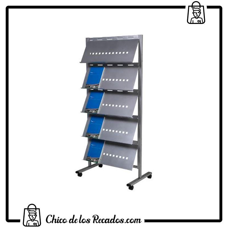 Expositores de pie - Expositor Pie Movil Metalico 5 Estantes 820X1850 Cm Rocada - ROCADA
