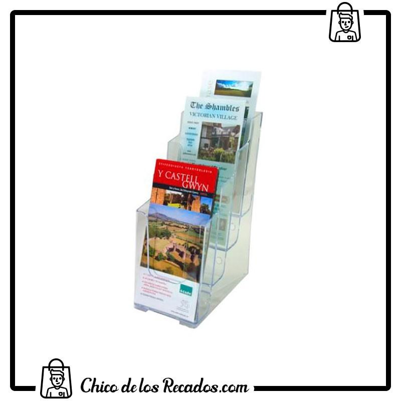 Expositores de sobremesa - Portacartel Sobremesa Vertical 4 Alturas 1/3 A4 Deflecto - DEFLECTO