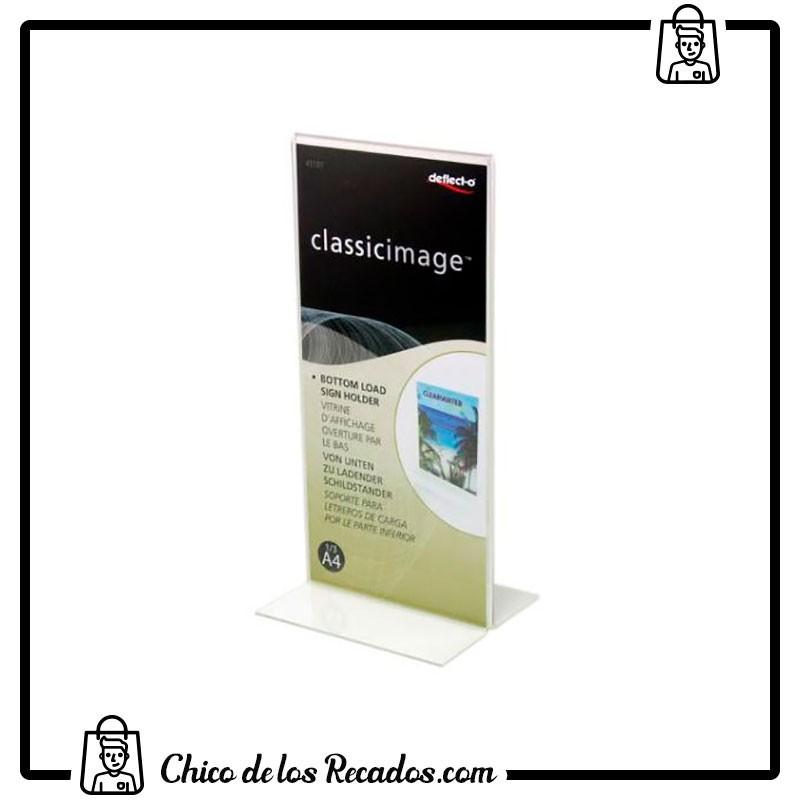 Expositores de sobremesa - Portacartel Sobremesa En T 1/3 A4 Deflecto - DEFLECTO