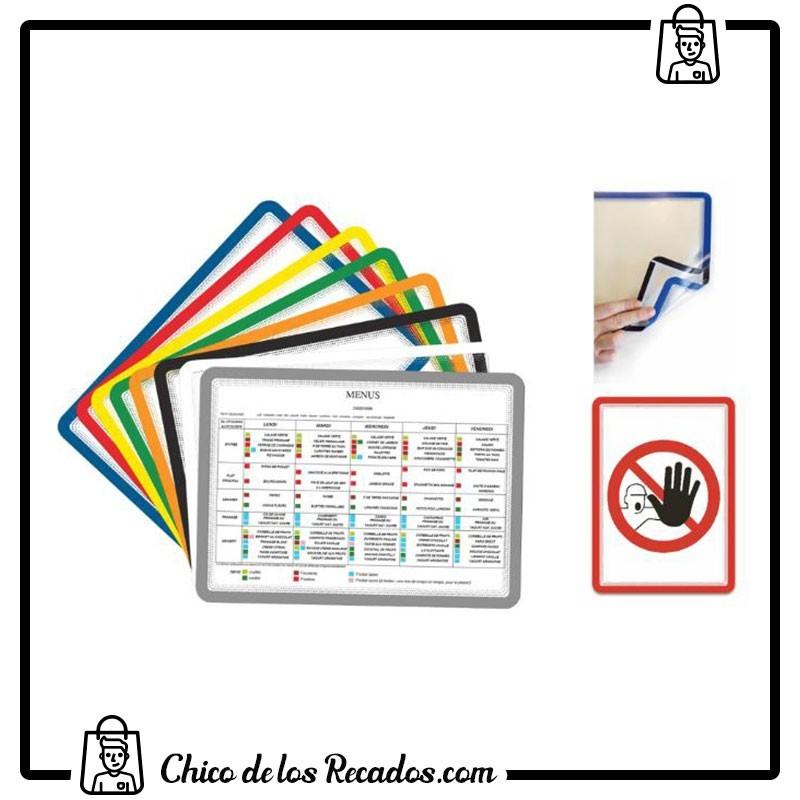 Paneles información de fundas - Marcos Porta-Anuncios A4- Magneto- Adhesivo Removible- Negro 2 Uds. Tarifold - TARIFOLD
