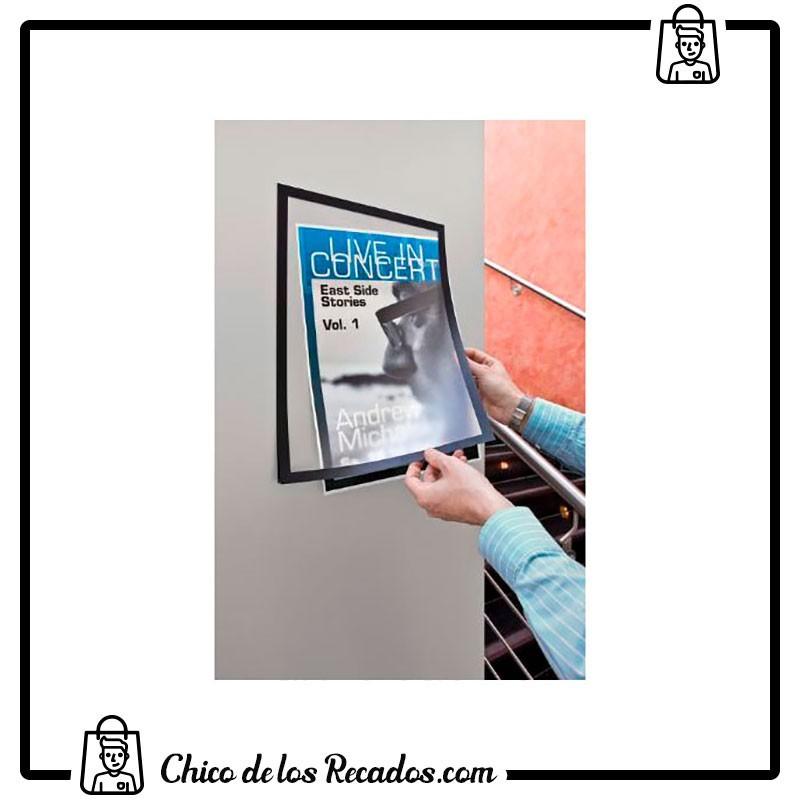 Paneles información de fundas - Marcos Autoadhesivos A4 Negro Panel Magnetico 2 Uds Durable - DURABLE