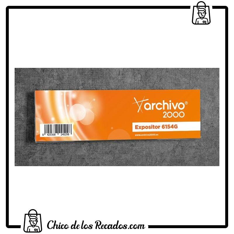 Portacarteles de pared - Rotulo Adhesivo Polipropileno Transp. 210X60Mm Archivo 2000 - Archivo 2000