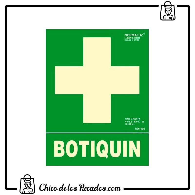 Placas normalizadas señalización - Placa Normalizada Pvc Botiquin Verde 224X327 Archivo 2000 - Archivo 2000