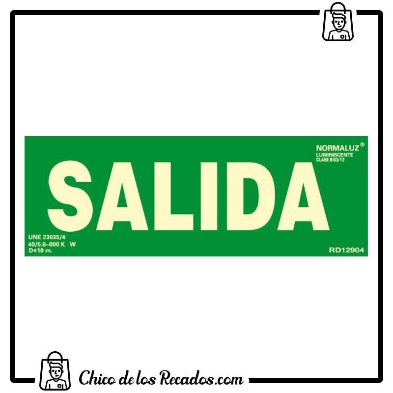 Placas normalizadas señalización - Placa Normalizada Pvc Salida Verde 224X327 2 Uds. Archivo 2000 - Archivo 2000