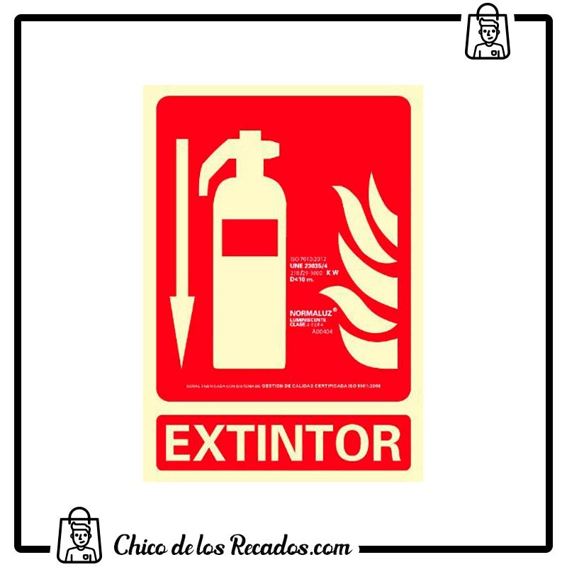 Placas normalizadas señalización - Placa Normalizada Pvc Extintor Rojo 224X327 Archivo 2000 - Archivo 2000