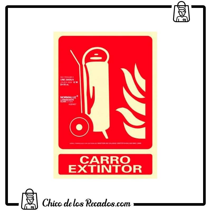 Placas normalizadas señalización - Placa Normalizada Pvc Carro Extintor 210X300 Archivo 2000 - Archivo 2000