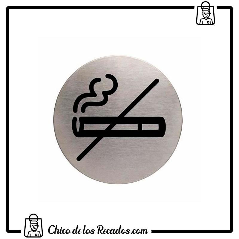 Pictogramas señalización - Simbolo Adhesivo Acero Inox. No Fumar Durable - DURABLE