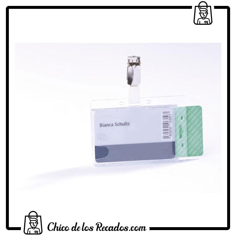 Portanombres de convención - Identificador Doble 54X85Mm Transparente Durable - DURABLE