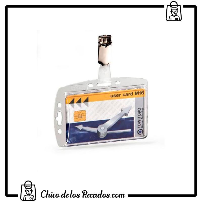 Portanombres de convención - Identificador Rigido C/Pinza Y Uñero 54X85 Durable - DURABLE