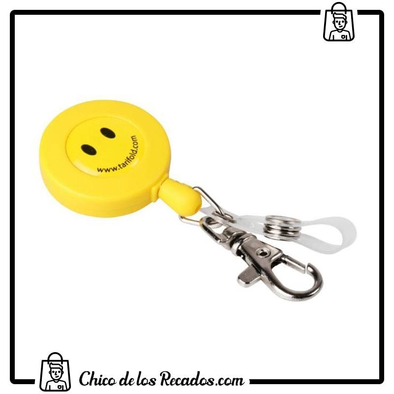 Portanombres de convención - Cordón Extensible Yoyó Amarillo Smile Con Doble Accesorio 60Cm Tarifold - TARIFOLD