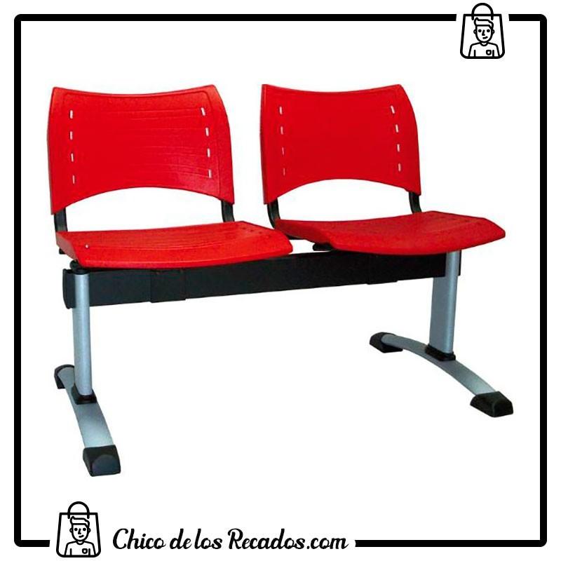 Recepción y salas de espera - Bancada Dyana Pp 2 Plazas Vincolo Pata Negra/Gris Vincolo - VINCOLO