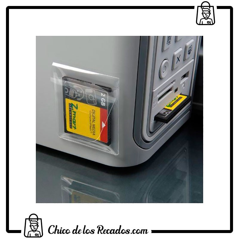 Clasificadores soporte magnético - Bolsillo Adhesivo Tarjetas De Memoria 52,5X58 Bolsa 10 Uds 3L Tarifold - 3L