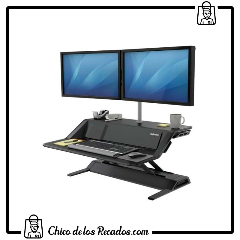 Soportes pantalla monitor - Estacion De Trabajo Lotus™ Dx Sit-Stand Negro Fellowes - FELLOWES