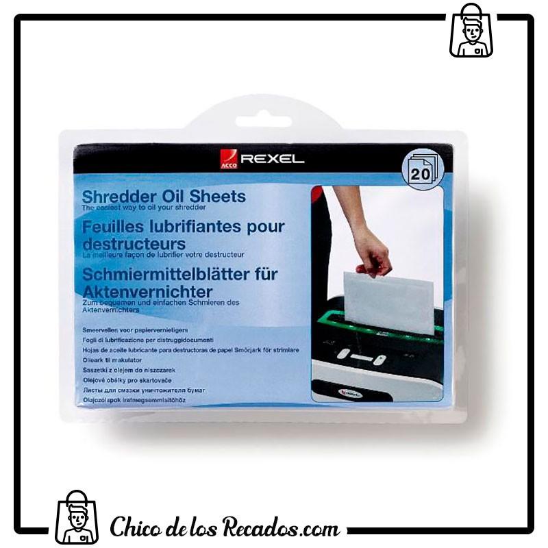 Accesorios destructoras - Laminas Lubricantes 20 Uds. Rexel - Rexel18
