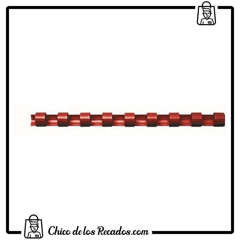 Accesorios encuadernación canutillo plástico - Canutillo PLÁSTICO 8Mm Rojo Cj.100U Fellowes - FELLOWES