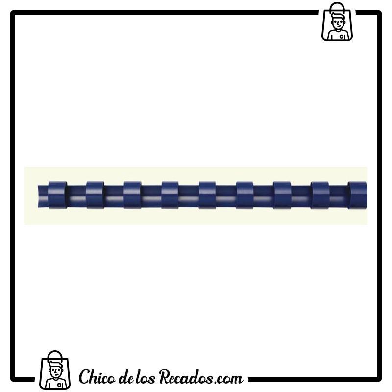 Accesorios encuadernación canutillo plástico - Canutillo PLÁSTICO 10Mm Azul Cj.100U Fellowes - FELLOWES