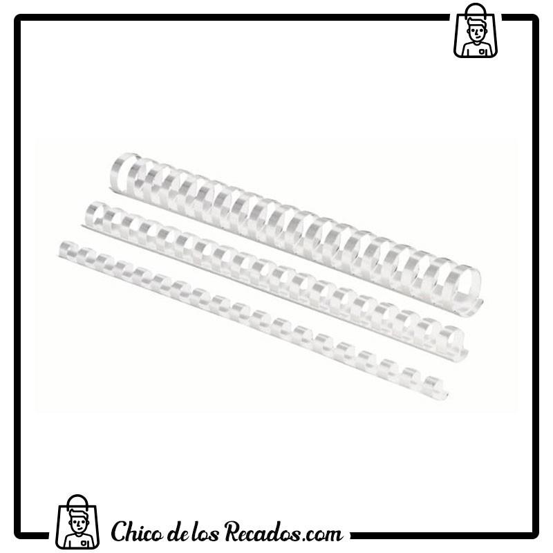 Accesorios encuadernación canutillo plástico - Canutillo PLÁSTICO 16Mm Blanco Cj.100U Fellowes - FELLOWES